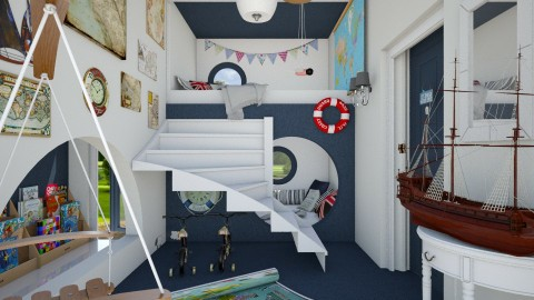 sailor  blue - Kids room - by Ni NI