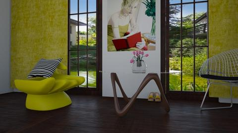 Yellow chair - Living room - by klara skop