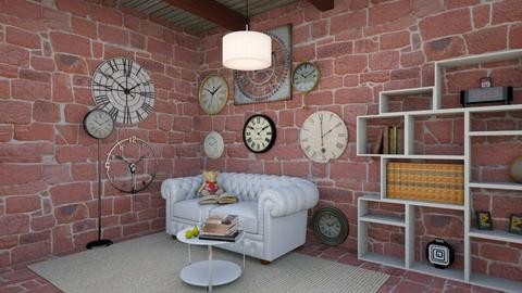 Clock Room - Living room - by NagromLiart