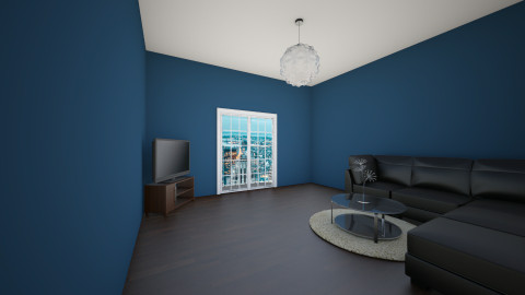 navy city - Living room - by QueenTori108