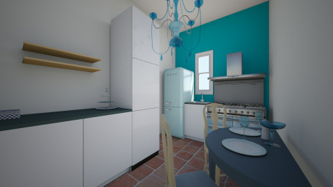 Small Compact Kitchen  - Retro - Kitchen - by Wendy Broyles