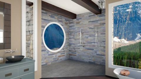 Mountain Retreat  - Bathroom - by Designbeginer