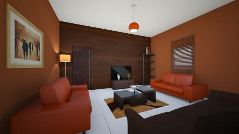 NEW HOUSE - Living room - by Omotara Adebayo