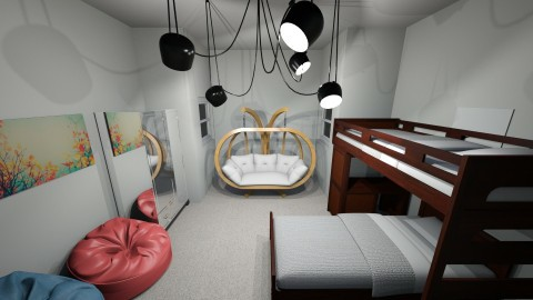 Twins room remix hehe - Bedroom - by deleted_1508269637_clemencevilmay