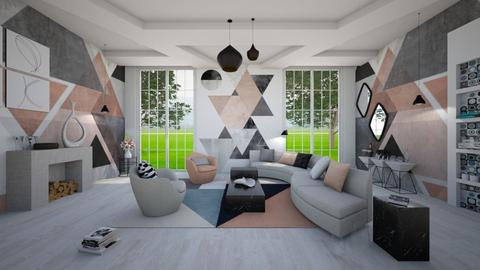 Shapes - Living room - by ArtHousedeco