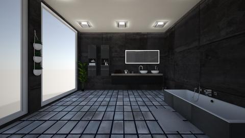 dark bathroom - Bathroom - by bhavya21