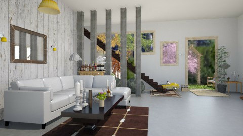 Concrete - Living room - by IZZYT2COOL