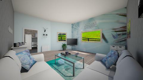 Blue  - Living room - by Tessa Feikens