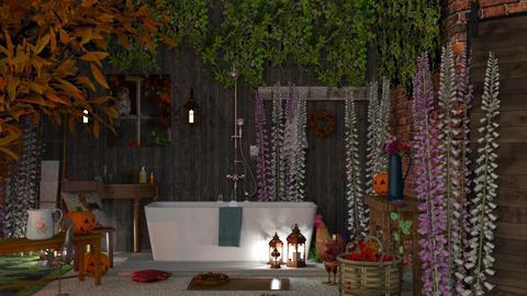The Owl - Bathroom - by Mum Dali