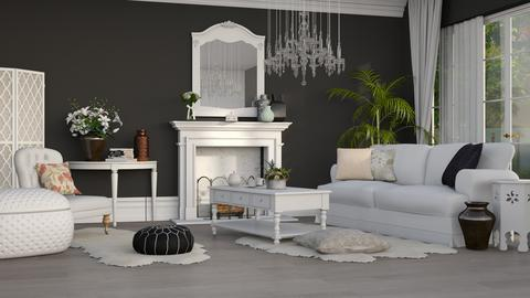 Black and white room - Classic - Living room - by EllaWinberg