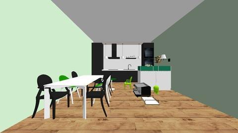 transparante keuken - Modern - Kitchen - by lunaklaassen