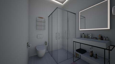 DormRoomSharedGirlsBath - Modern - Bathroom - by jade1111