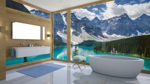 House near the lake - Modern - Bathroom - by Valeria Nesterova