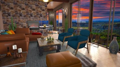 Canynon sun house - Living room - by Moonpearl