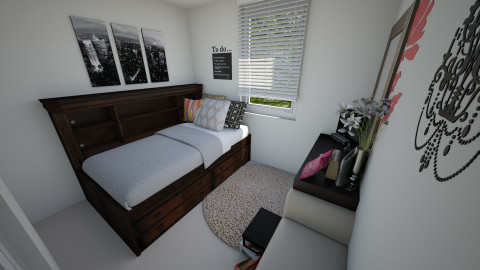 mirandas room small space - Bedroom - by dbell319