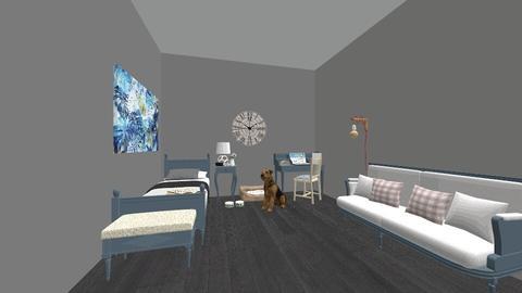 Blue and Grey - Bedroom - by briellej81