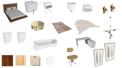 bedroom moodboard - by fiabelle