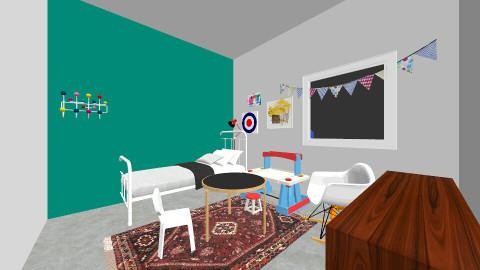 Ukon huone_1.2 - Kids room - by Essi_eames