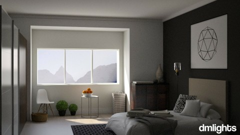 Geometric Grey - Modern - Bedroom - by BrandonThibby