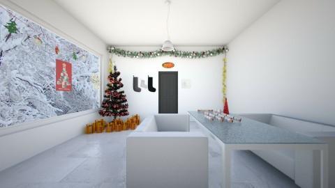 Christmas - Modern - Living room - by KKIsCrazyAF