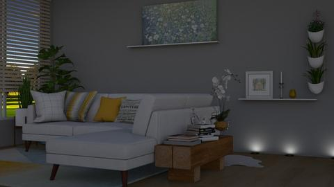 modern living room - by cuneyt oznur