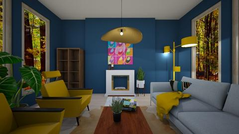 Cozy Modern Cabin - Modern - Living room - by ClaireCora