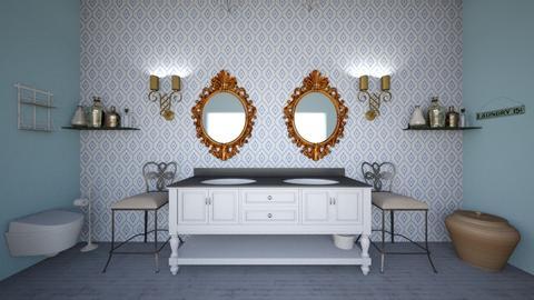 classy half bath - Glamour - Bathroom - by sonu4life
