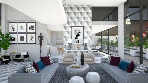 The Penthouse - Modern - Living room - by AlSudairy S