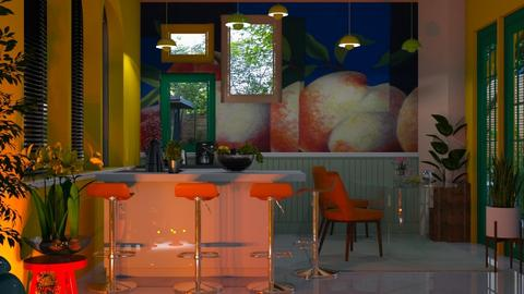Modern Playful Kitchen - Modern - Kitchen - by Sue Bonstra
