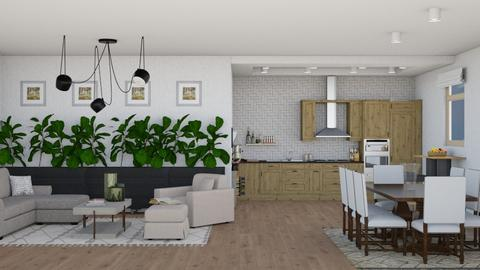 living room_kitchen - Living room - by maritaaslamazashvili