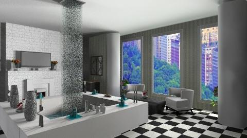Relax - Retro - Bathroom - by ebonee
