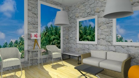 Beach - Living room - by ohohmonica