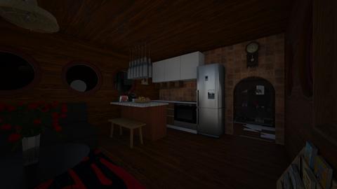 woody wood - Living room - by Brina Yunio
