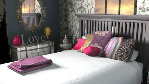 Bohemian Charcoal - Feminine - Bedroom - by ShannonMurs