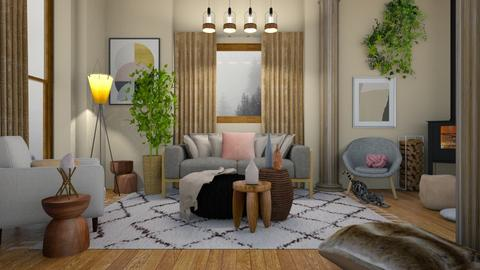 Living With Columns - Living room - by mgirlie30