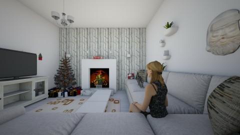 white - Modern - Living room - by Sharon Stokes