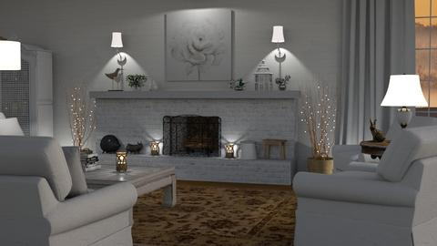 White Cottage - Living room - by GraceKathryn