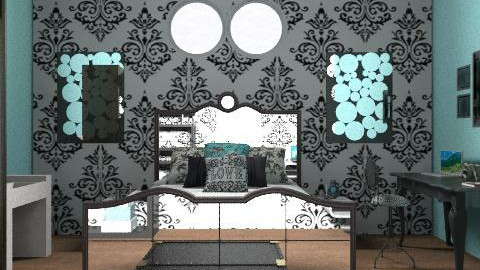 black and blue - Vintage - Bedroom - by lala229