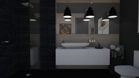 Dark Bathroom - Bathroom - by juliavalerie