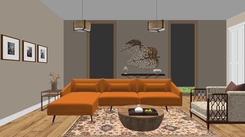 Orange - Living room - by Miflower