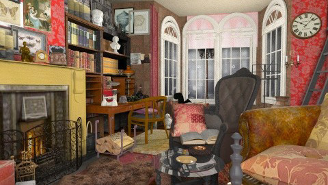 Study at Baker St - Vintage - Living room - by katmills98