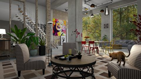 Eclectic2 - Living room - by ZuzanaDesign