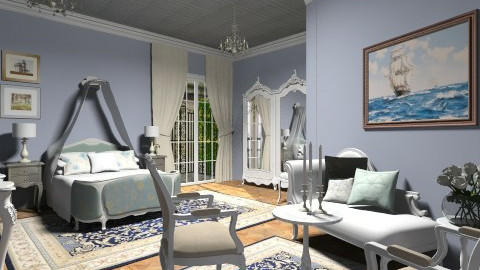 Blue royal - Classic - Bedroom - by Tuija