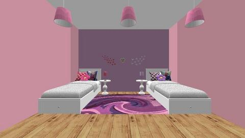 Girls twin bedroom - by Shayleewise22