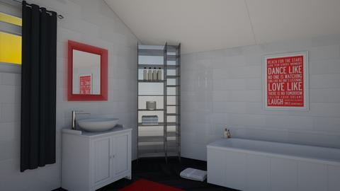 Pops of Red - Modern - Bathroom - by kyramargarete19