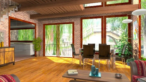 Near the Bridge - Modern - Dining room - by Bibiche