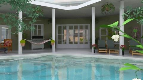 House with a pool - Modern - Garden - by Yoshi Yogataga