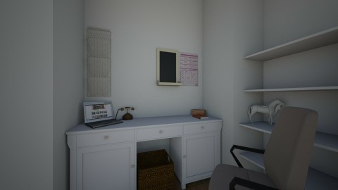 cozy office - by a tall cactus