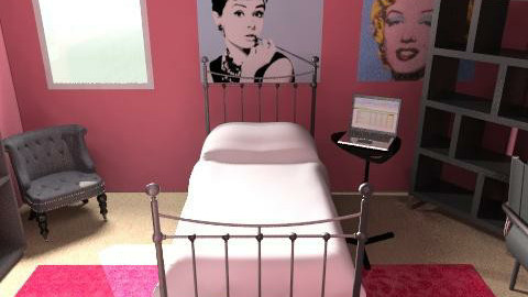 """My Sister's """"Ideal"""" Room  - Retro - Bedroom - by kblossey"""