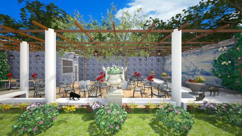 Cafe Lisboa - Classic - Garden - by Joao M Palla